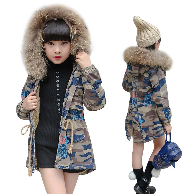 Kids Girls Outerwear Coat Jean Denim Military Camouflage Jacket ...