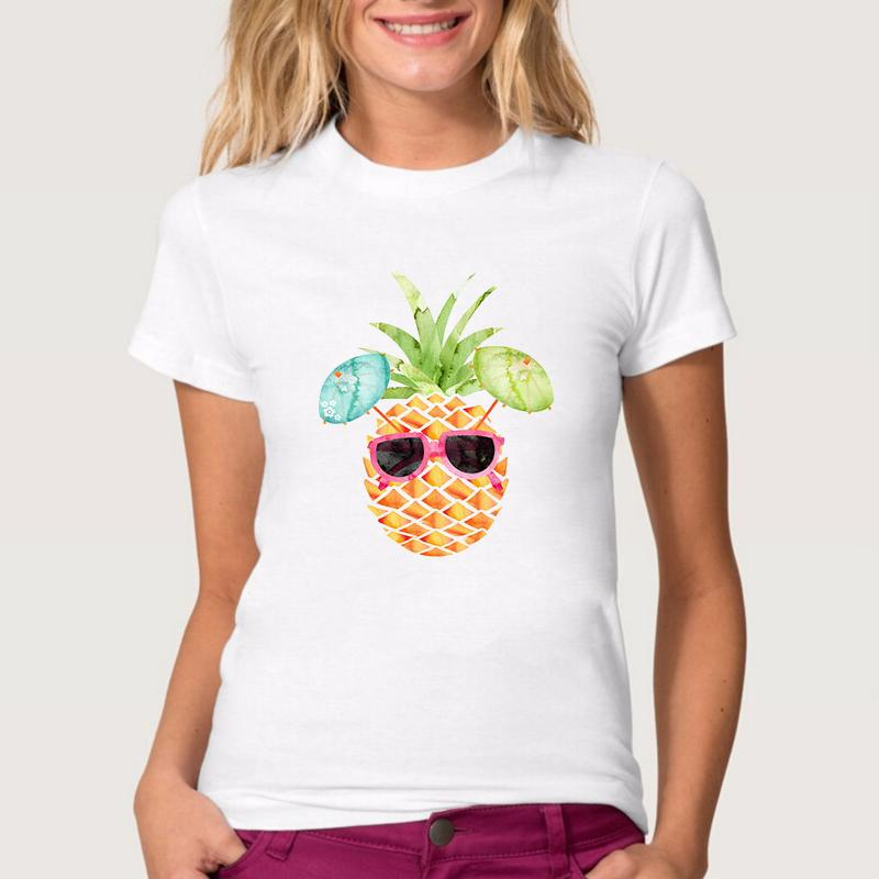 Women Lady Girl Fashion Cool Pineapple Print Beauty T Shirt Funny T ...
