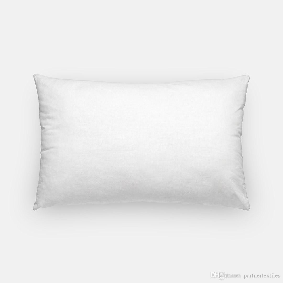 12x18 Inches Plain White Lumbar Pillow Case Pure White