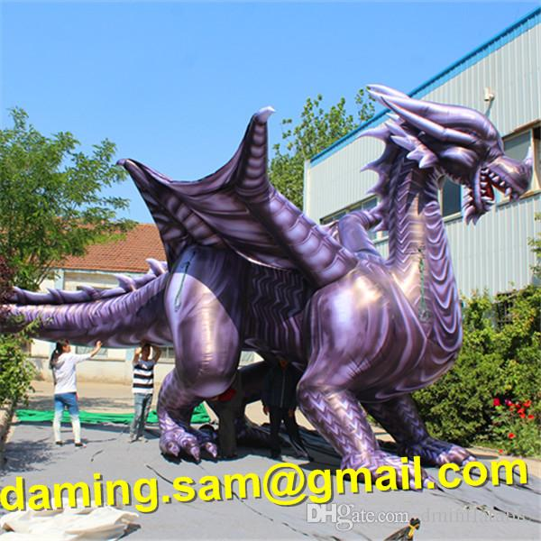8m comprimento Gigante Grande Inflável Chinês Dargon Dragão Dino Dino Dinossauro Dinossauro Tiranossauro Rex para Decoração da Parada