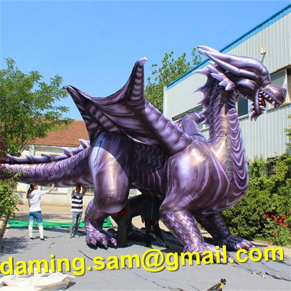 8m Longitud gigante inflable grande de China Dargon inflable dragón inflable Dino dinosaurio Tyrannosaurus Rex para el desfile de Decoración