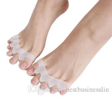 1 Çift Silikon Jel Ayak Ayırıcılar Sedyeler Hizalama Örtüşen Toes Ortez Çekiç Toes Ortopedik Yastık Ayak Bakımı Ayakkabı Tabanlık