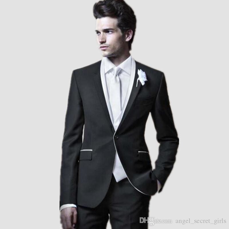 2019 Elegant Style Men Suits Dinner Party Prom Suits Tailor Made Groom  Tuxedos Groomsmen Wedding Suits Jacket+Pants+Vest From Angel_secret_girls,