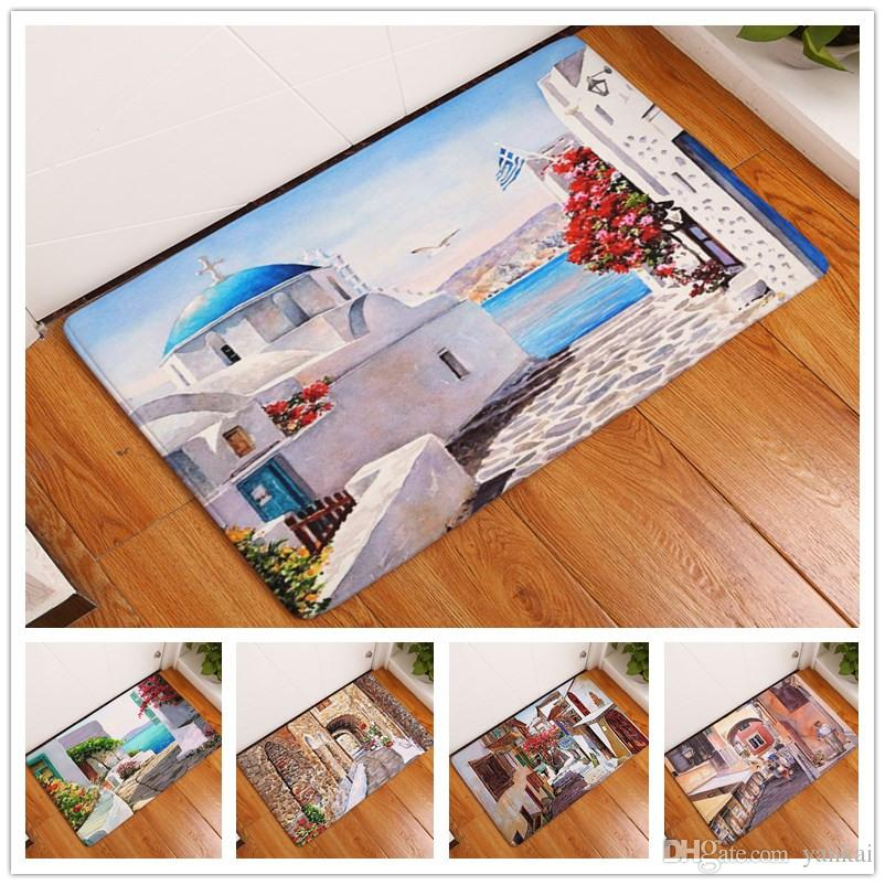beautiful scenery coastal city painting anti slip carpet new home rh dhgate com