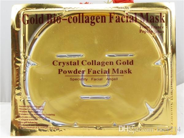 Günstige Großhandel Gold Bio-Kollagen Gesichtsmaske Gesichtsmaske Kristall Gold Pulver Kollagen Gesichtsmaske Feuchtigkeitsspendende Anti-Aging-24k Gold Masken