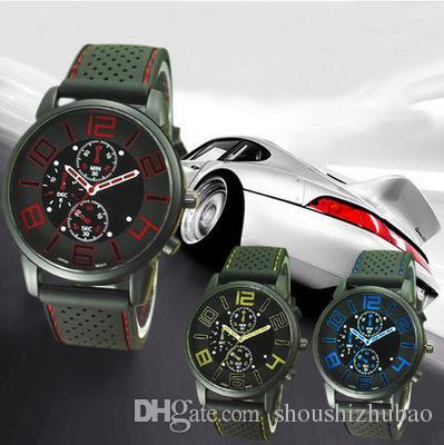 Взрыв автомобиля концепт модные часы мужчины набрать три глаза крутые спортивные часы