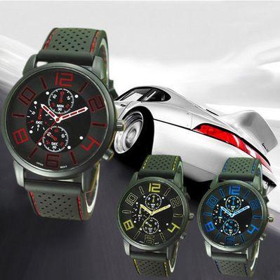La explosión del concepto de automóvil reloj de moda para hombres marca tres ojos geniales Reloj deportivo