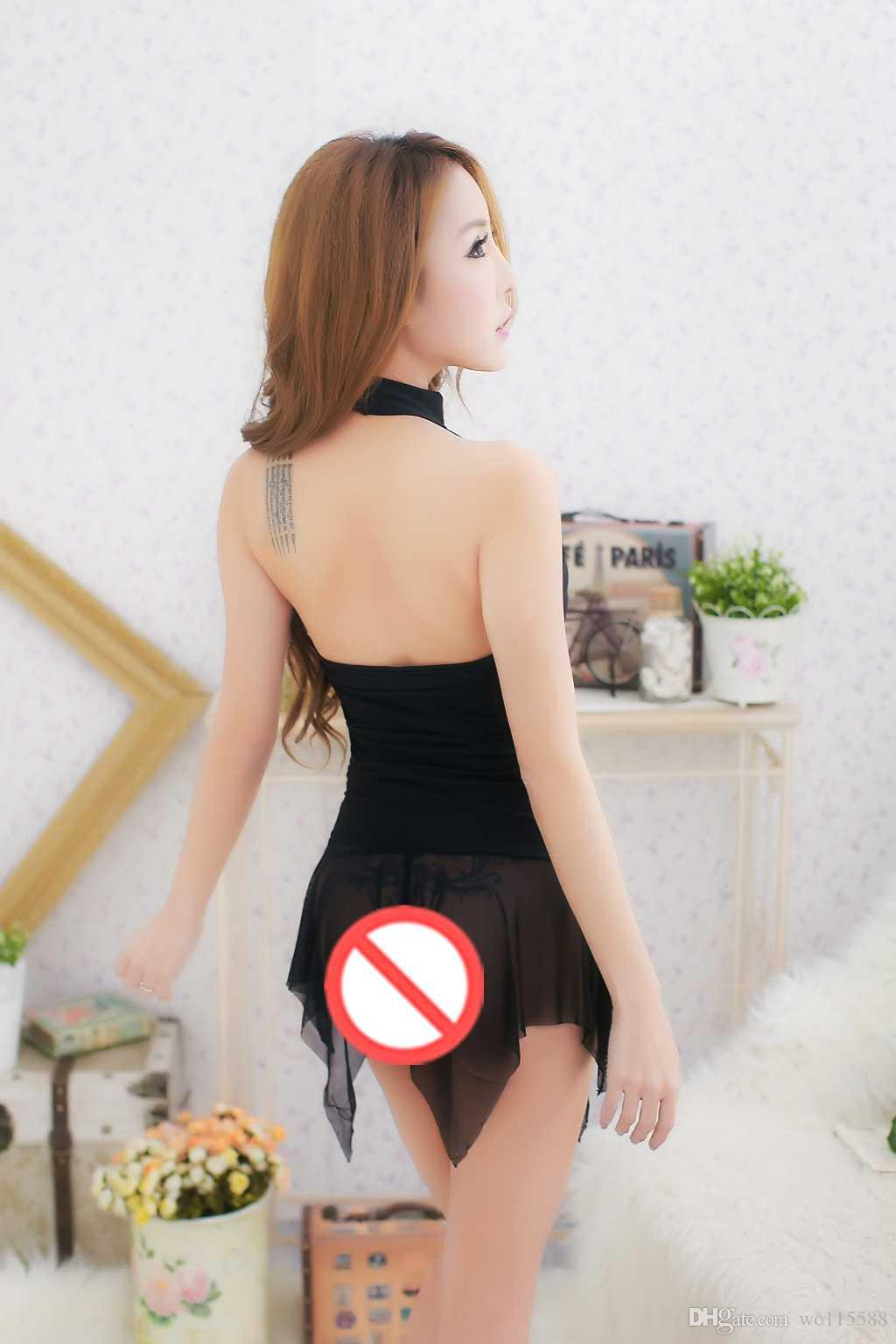 Бесплатная доставка новое сексуальное женское белье косплей сексуальное женское белье дамы сексуальная черная сетка юбка юбка молоко висячие шеи пижамы пижамы