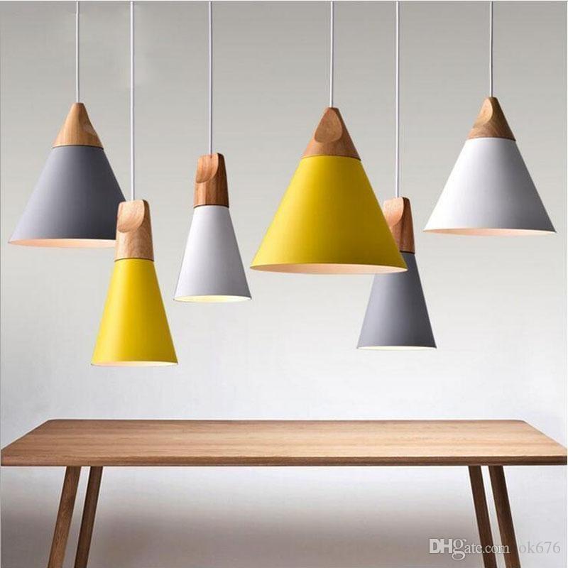 wholesale modern pendant lights wooden aluminum colorful pendant rh dhgate com