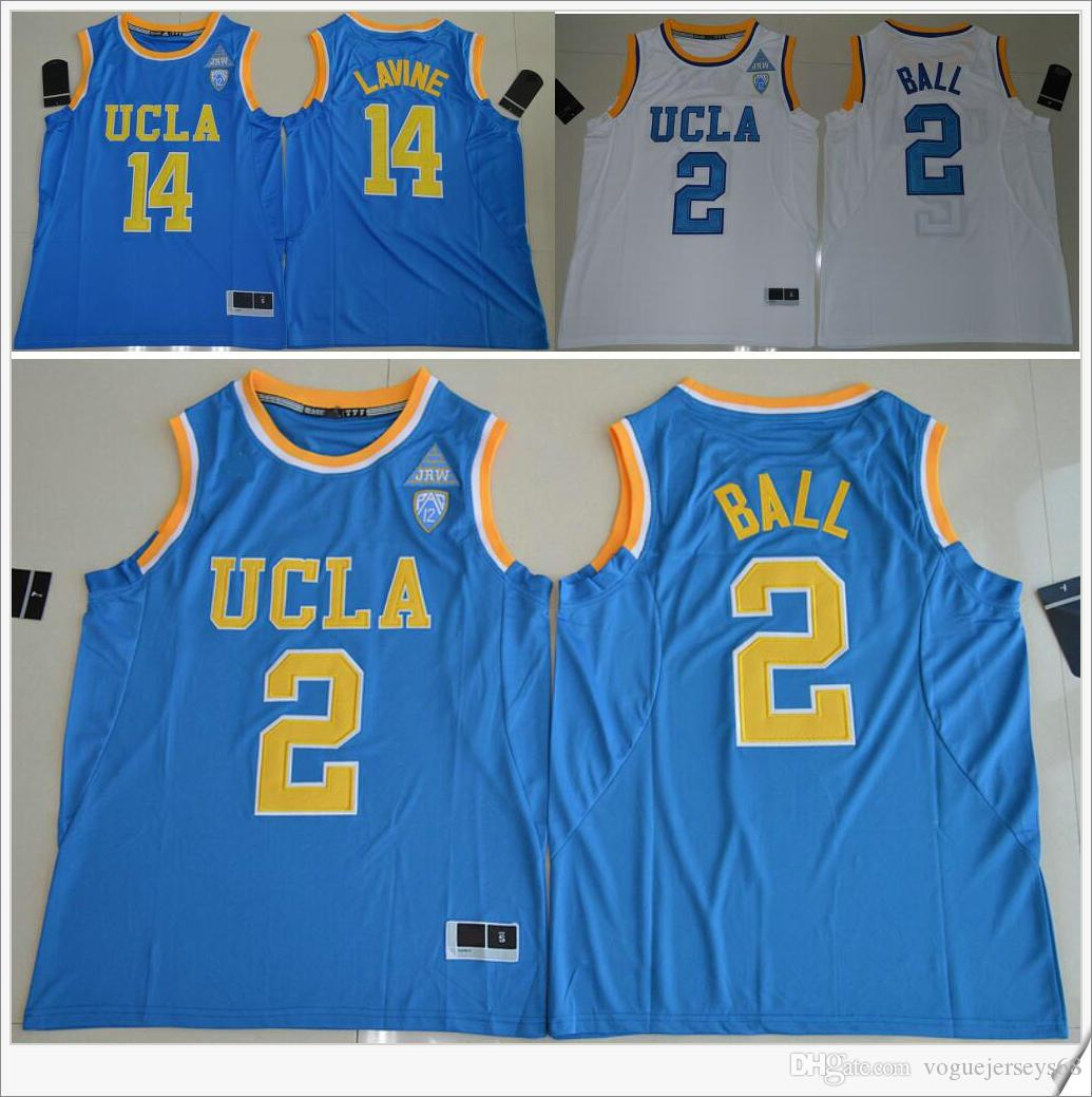 911f646015dd ... Basketball 2017 Swingman Stitched NCAA Jersey UCLA Bruins 2 Lonzo Ball  14 Zach LaVine PAC-12 Mens American College Stitched Embroidery ...