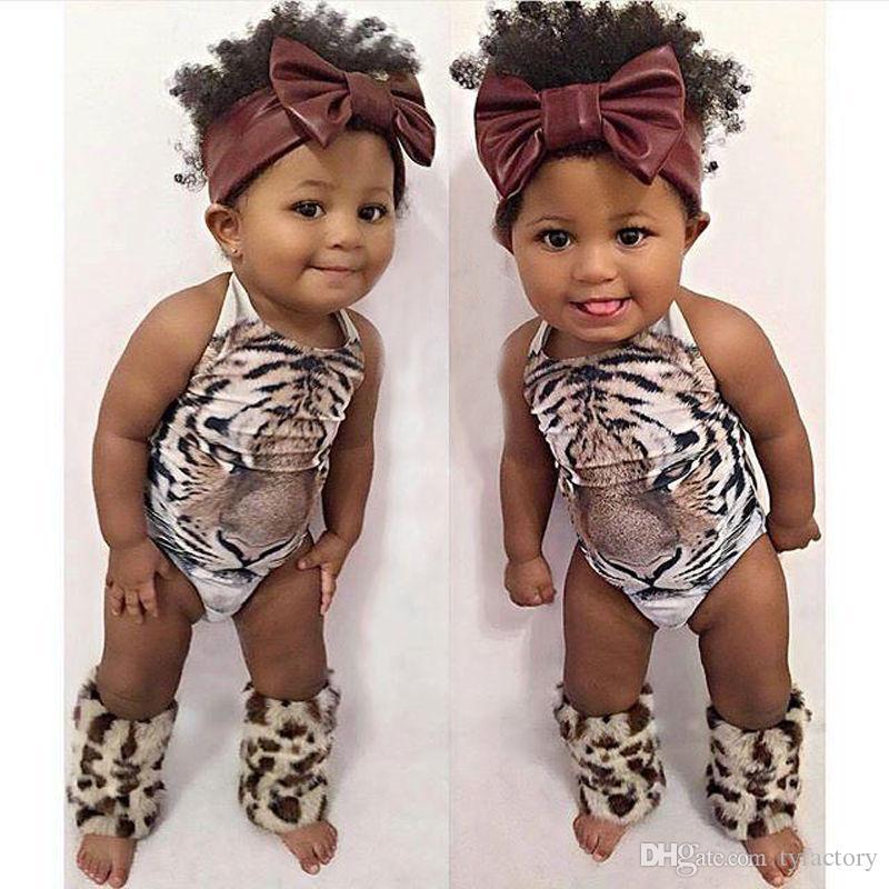 Children swimsuit girls swimwear one-piece swimsuit baby girls kids clothing 3D tiger print bikini fashion summer clothes 2017 Age 2-7T