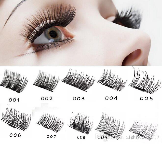 New Ultra Thin Magnetic Eye Lashes Natural 3d Reusable False Magnet