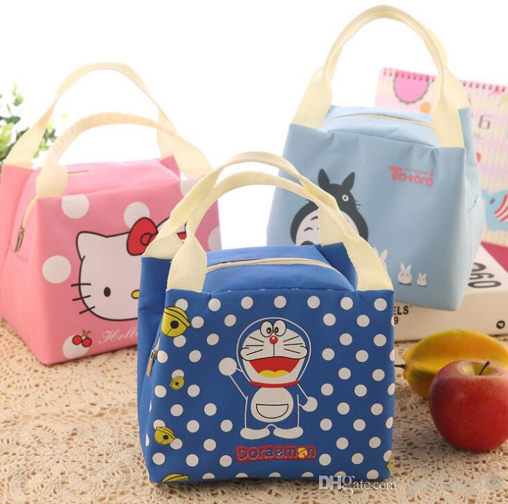 2019 Portable Cartoon Cute Hello Kitty Lunch Bag Insulated Cold Canvas  Picnic Totes Carry Case For Kids Women Thermal Bag From Greenwing168 621f527e0cb31
