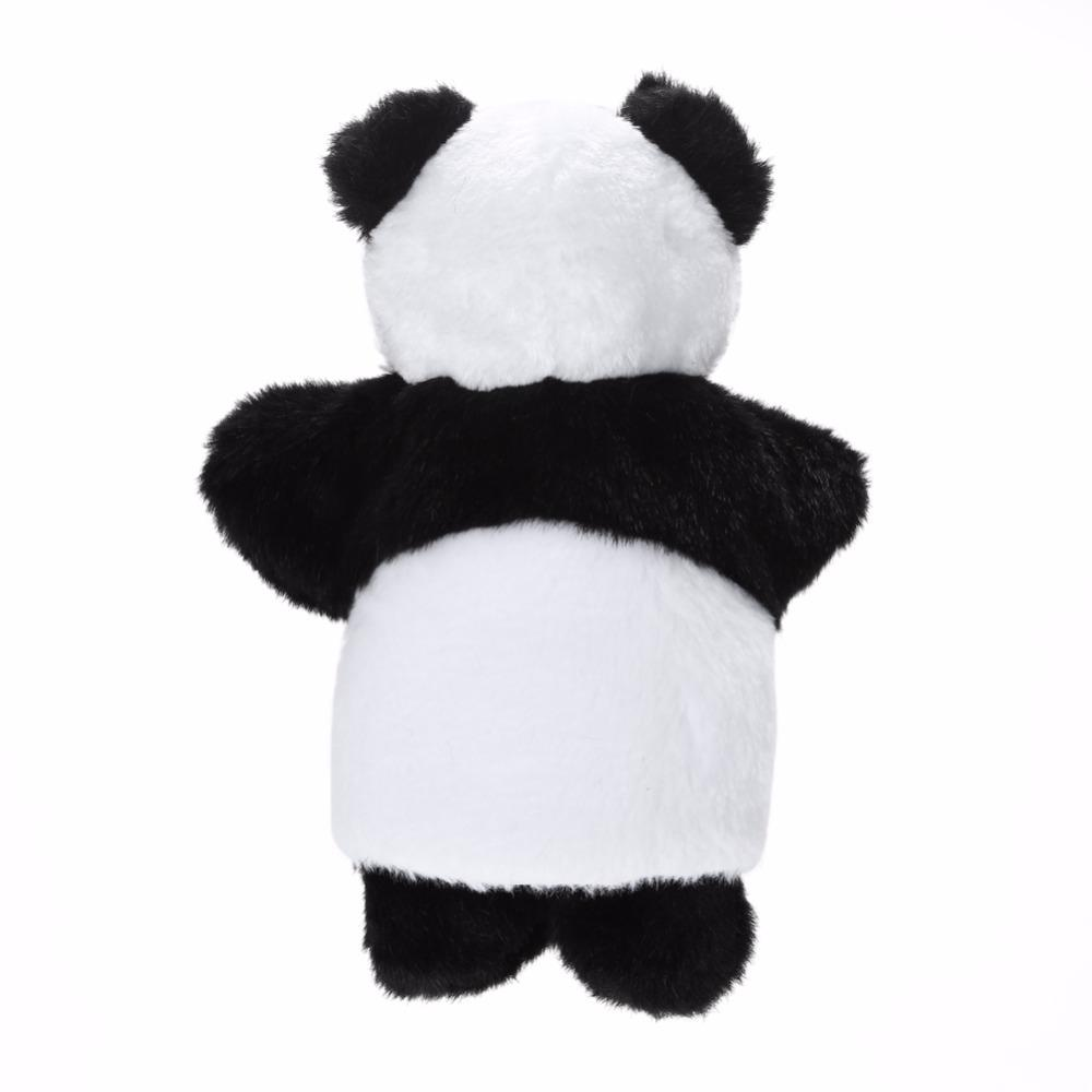 Cute Plush Panda Hand Puppet Baby Sleep Story Accessory Hand Game Toy Lovely Panda Parent-Kids Interaction Doll Hand Puppet Toy