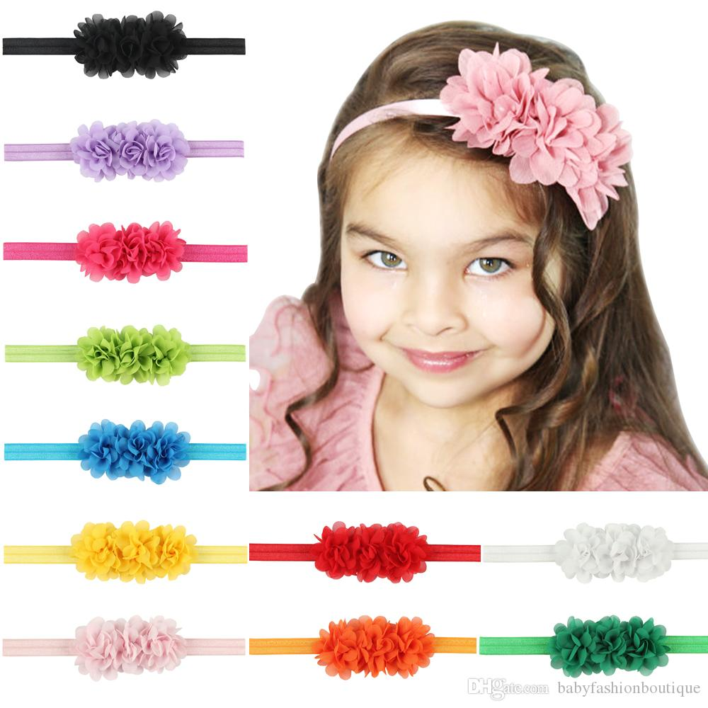 110d9b9cc31 Photography Props Baby Chiffon Flower Headbands Chic Children Hair  Accessories Artificial Floral Hairbands 2017 Infant Headwear Retail Newborn  Hair ...