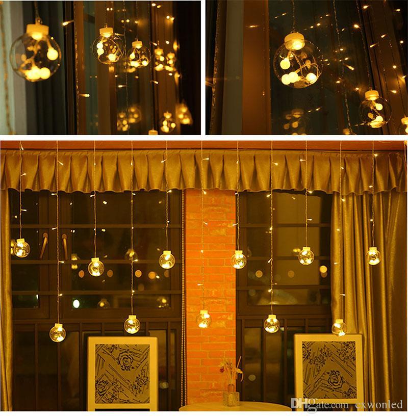 DHL Globe гирлянд 108LED теплый белый свет Мерцание с 8 Режимы контроллера Прозрачный Строка Кабель-для партии / Сад / Декор Свадебный