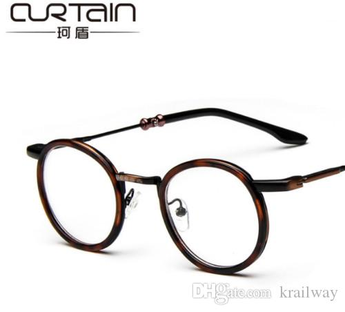 2018 Vintage Retro Copper+Leopard Eyeglasses Frames Good Quality ...