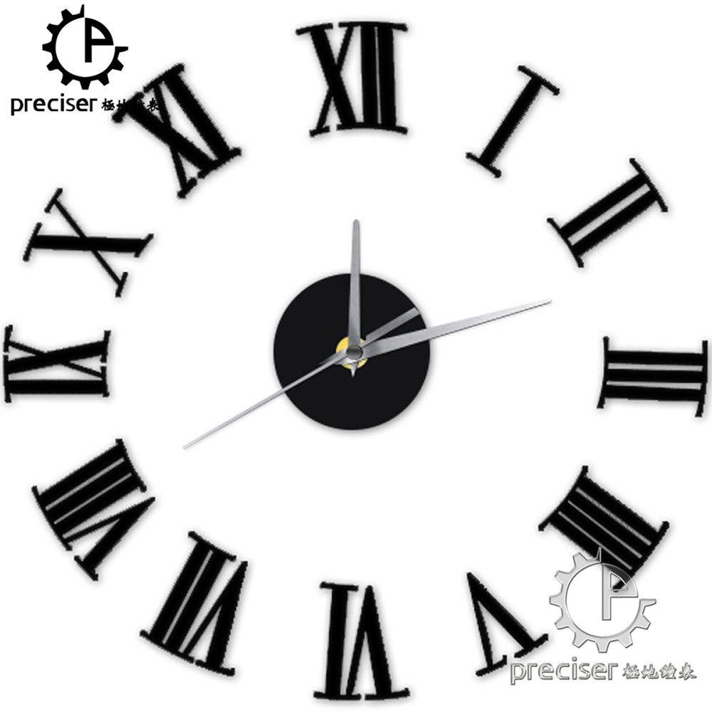 Großhandel Römische Zahlen Digital Quarz Diy Moderne Uhr Acryl