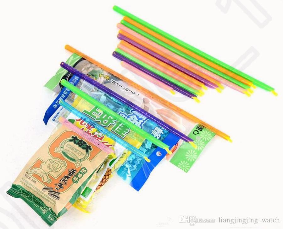Magic Seal Bag Sealer Sticks hält Lebensmittel frisch Plastiktüte Sealer Clips Lagerung Lebensmittel / set OOA1160
