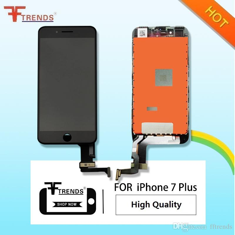 High Quality AAA+++ for iPhone 7 Plus 5.5inch LCD Display & Touch Screen Digitizer Full Assembly 3D Touch Function Black White 100% Tested