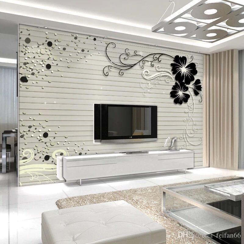 Tv Wall Wallpaper Large Wall Murmur Wall
