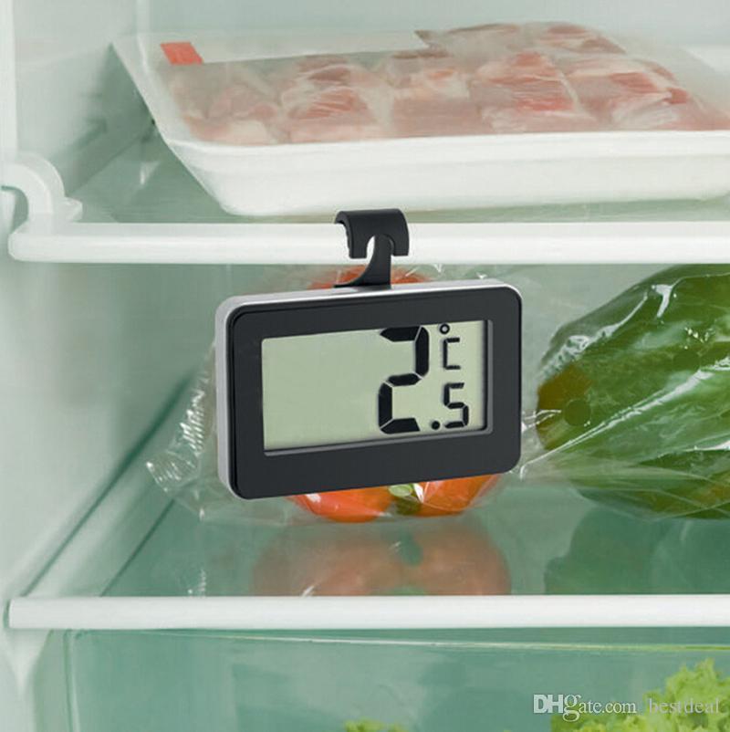 Digital Frigorífico Congelador Termómetro de Alta Precisión Termógrafo Electrónico A Prueba de agua Termómetro de Refrigerador Con Alarma de Escarcha 2017 Nuevo