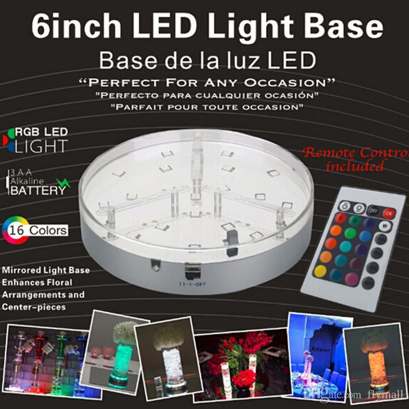 2019 6inch led display light table led vase light base with remote rh m dhgate com