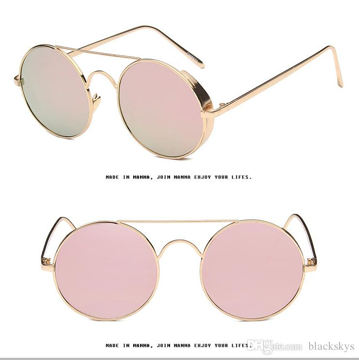 High Quality Metal Shelf Roundness Colorful Sunglasses for Women and Men G003