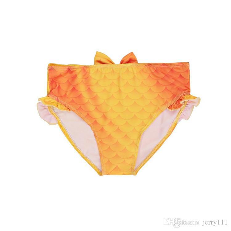 Costume da bagno a sirena bambina a 2 stili Costume da bagno a sirena bikini da bambina Costume a tre pezzi Costume da bagno Girsl Costume da bagno bambini TA144