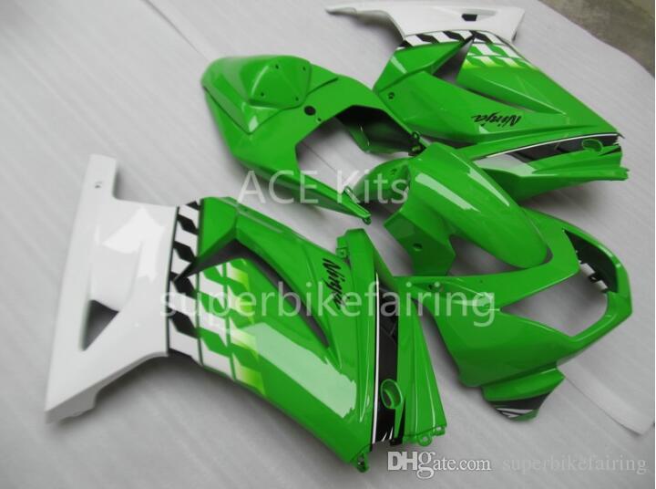 3 regalos gratis Nuevo kit de carenado del molde de inyección para KAWASAKI Ninja ZX250R 08 09 10 11 12 ZX 250R EX250 2008 2012 blanco verde SX1
