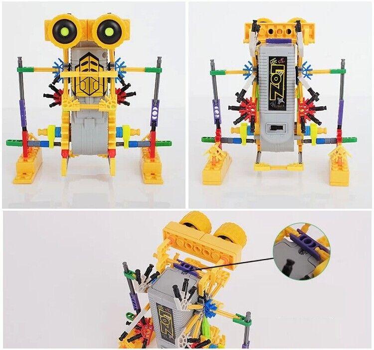 Creativo DIY Assemblage Robot motore elettrico Modelli Costruzione Giocattoli Hobby Bambini Educational Gear Blocchi ragazzi