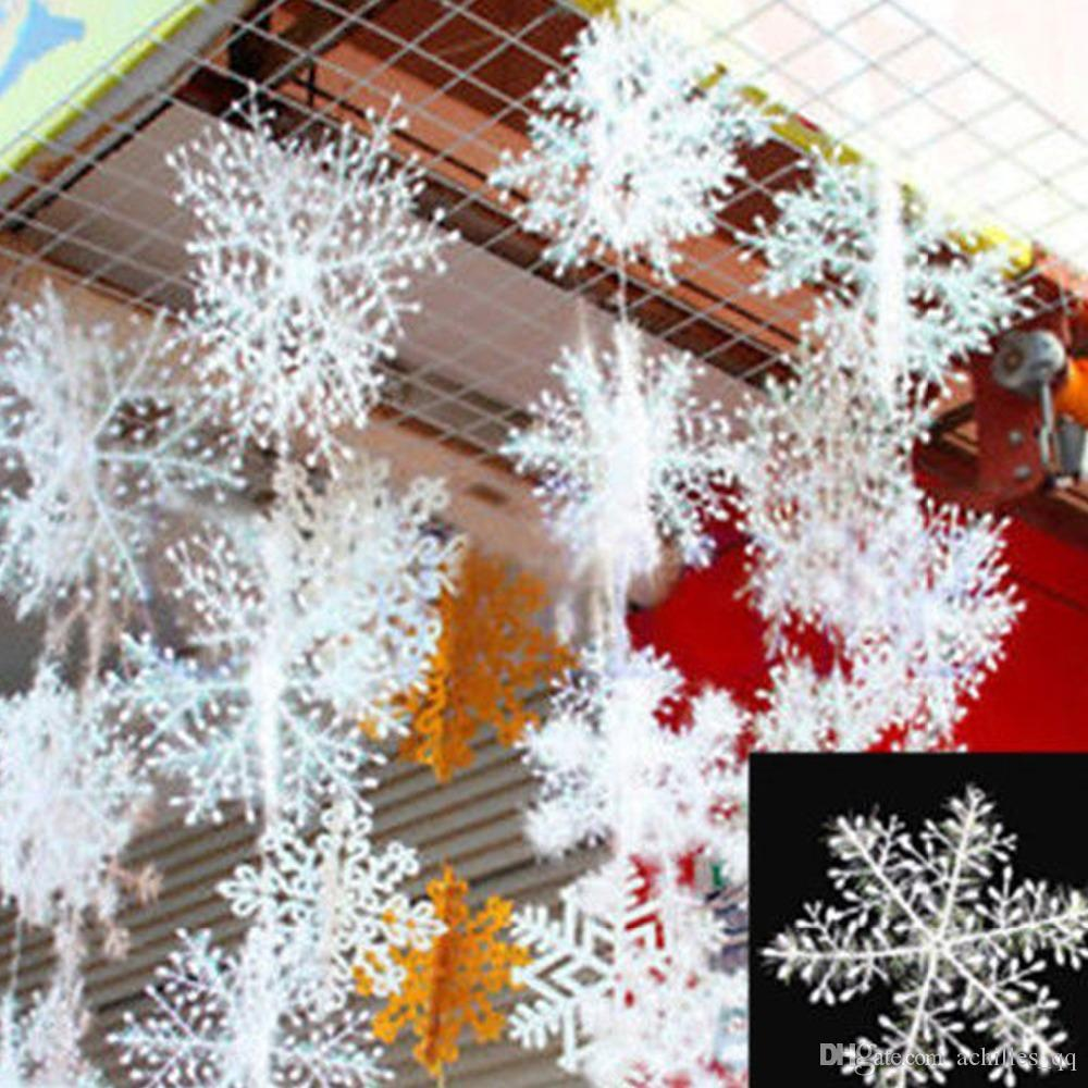 2019 christmas white snow flake snow string wedding decor festival rh dhgate com