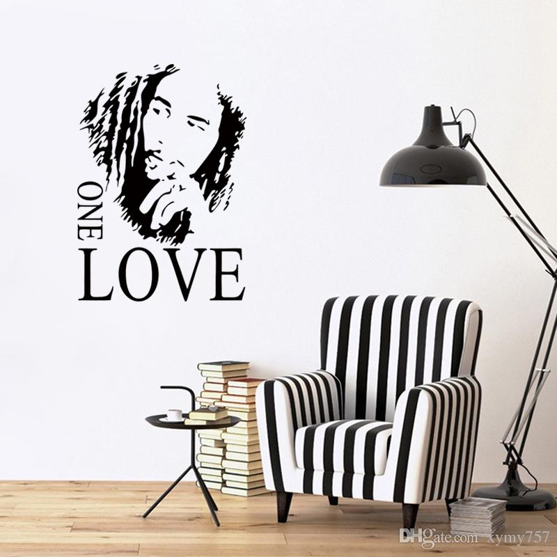 Cool Graphics New Design Bob Marley One Love Mural Removable Decal Room Wall  Sticker Vinyl Art Decor Diy Tree Sticker For Wall Tree Sticker Wall Art  From ... Part 48
