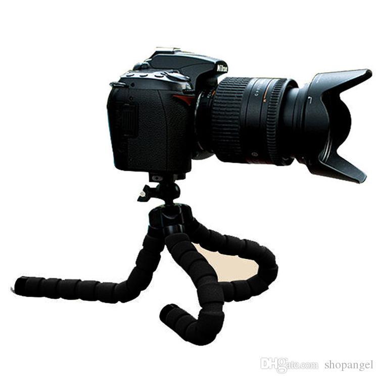 Flexible Tripod Holder For Cell Phone Car Camera Gopro Universal Mini Octopus Sponge Stand Bracket Selfie Monopod Mount With Clip