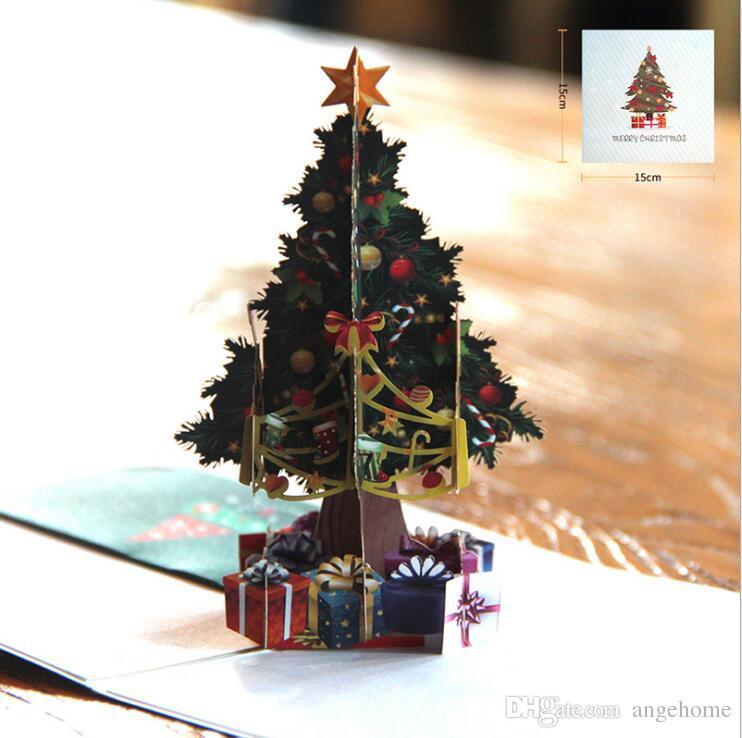 Karte Weihnachten.Weihnachten Handgefertigte Karten Weihnachten 3d Pop Up Grusskarte Festival Geburtstag Dank Tag Jahrestag Frohe Weihnachten Origami