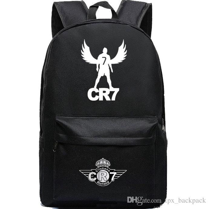 8f5d8fbb8dbb Cr7 Backpack Cristiano Ronaldo Day Pack Football Star Cr 7 School Bag  Soccer Packsack Quality Rucksack Sport Schoolbag Outdoor Daypack School  Backpacks Cool ...