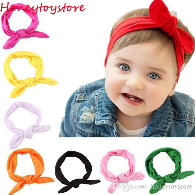 b62dd06bf346 Fashion Cute Rabbit Ears Bow Hair Bands Cloth Headband Bowknot Headwear For  Girls Children Headdress Hair Accessories For Ladies Sparkly Hair  Accessories ...