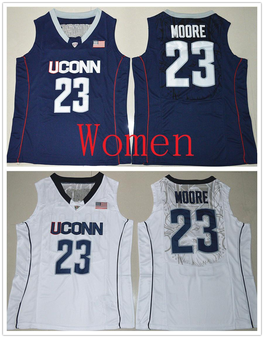 6e6c6a5a2ed7 2019 Personalized Women Uconn Huskies  23 Maya Moore Navy Blue   White Basketball  Jerseys Stitched Ladies Size S 2XL Custom Any Name Any Number From ...