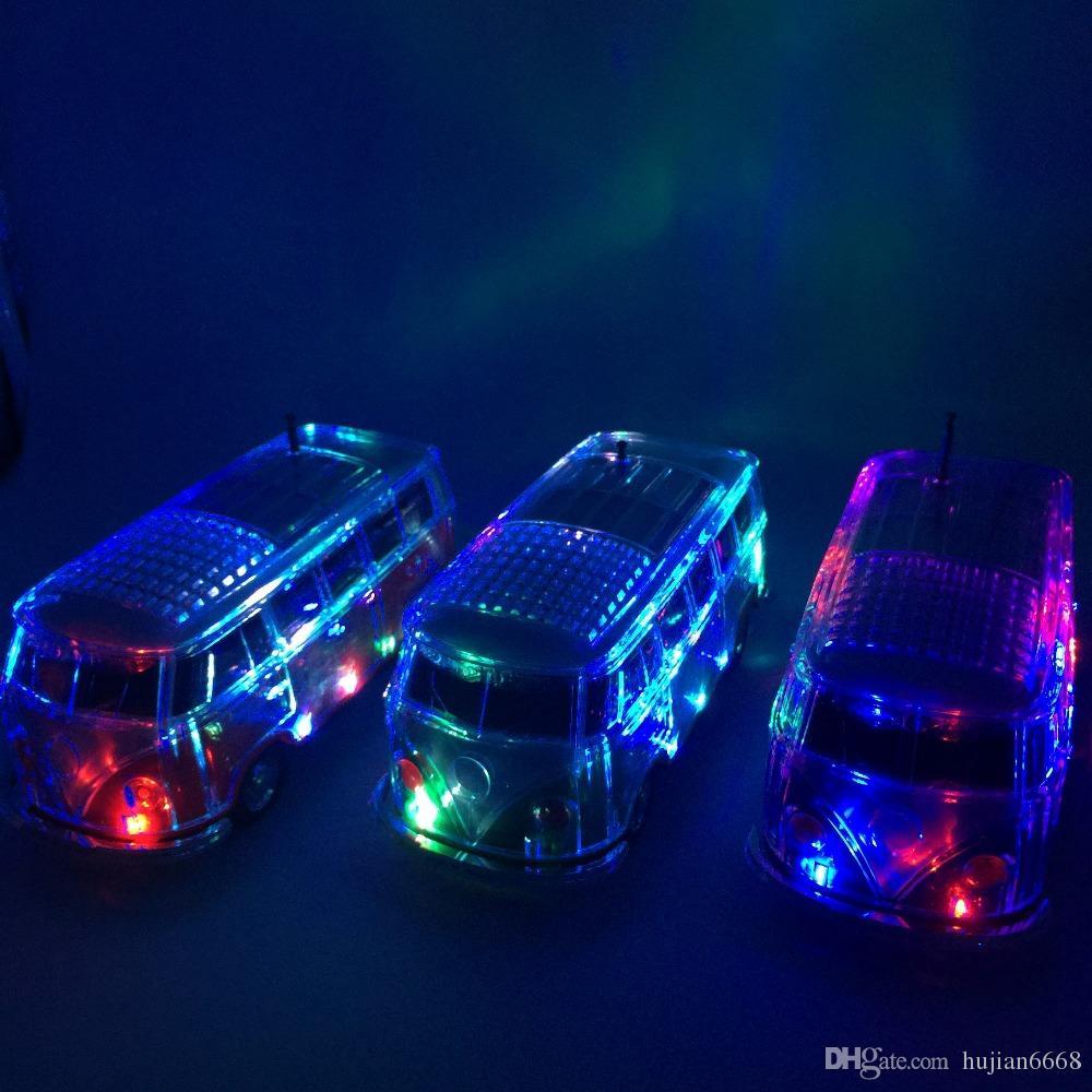 2017 neue Bus Bluetooth Lautsprecher WS-267BT mit coloful LED MP3 Player Unterstützung led-licht / FM / TF / USB stick / Aux-in DHL frei