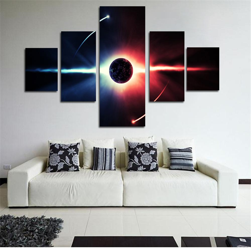 2018 Panel Modern Universe Planet Wall Painting Canvas Art Hd ...