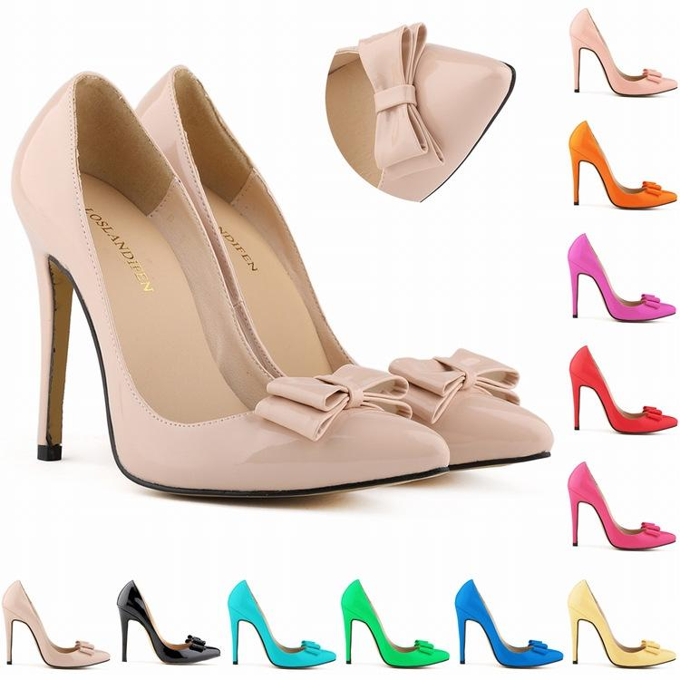 Sapatos Femininos Fashion Women Bow Shoes High Heels Corset Pumps Party Court Dress Shoes Size Us 4-11 EUR 35- 42 D0016