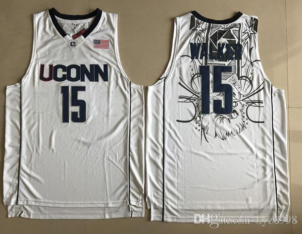 908b9bb3d783 ... ireland 2018 kemba walker 15 uconn huskies university of connecticut college  basketball jersey embroidery stitched custom
