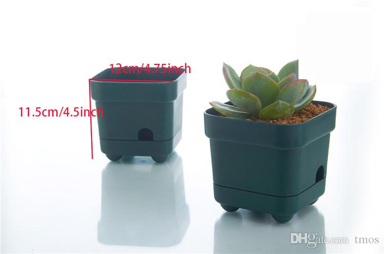 Wholesale MOQ Green Water Reserve Automatically Flower Bonsai Planting Grow Pot for Home Table Garden Succulents Growing Decoration