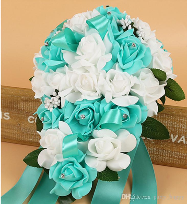 Wedding Bouquets Wedding Flowers Ivory Rose Crystal Bouquet Bride