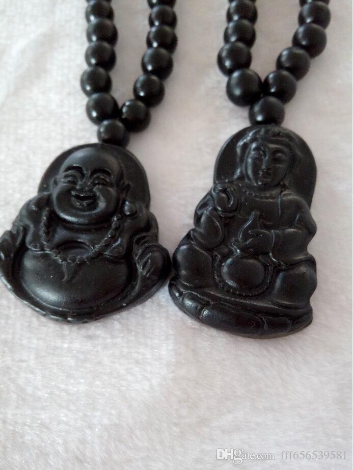 Естественный светло-черный нефрит Будда Ган-инь кулон жадеит класс пара производителей нефрита, продающих мужчин и женщин B1