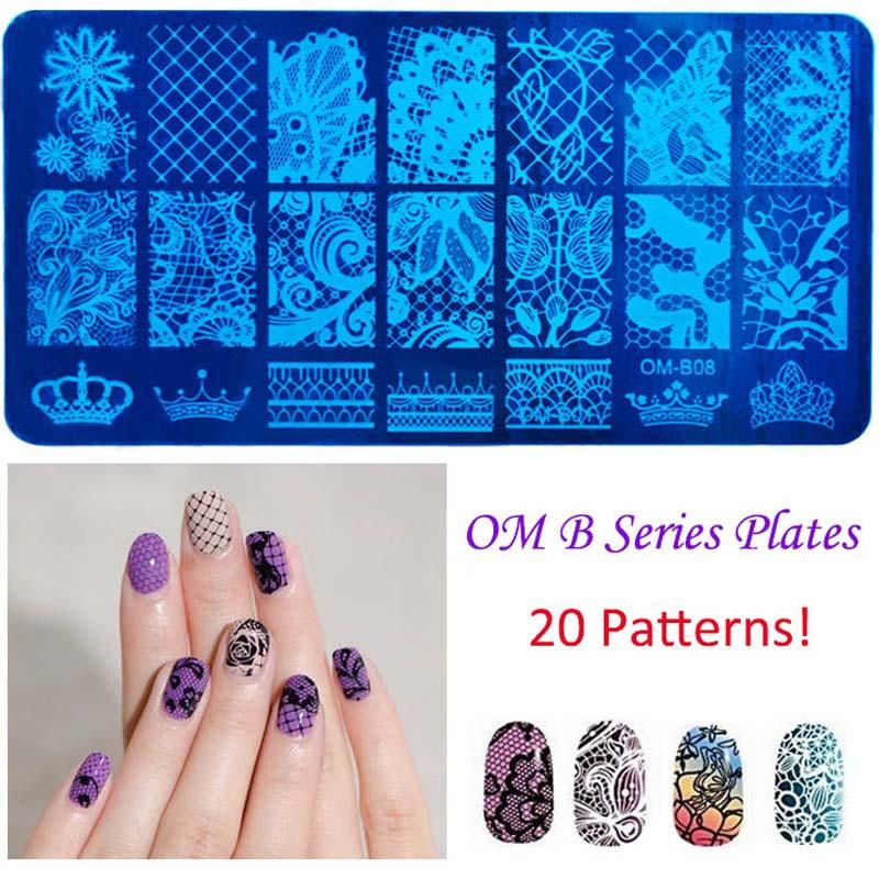 Rectangle Nail Art Stamping Plate 12x6cm Stamping Plates Fashion