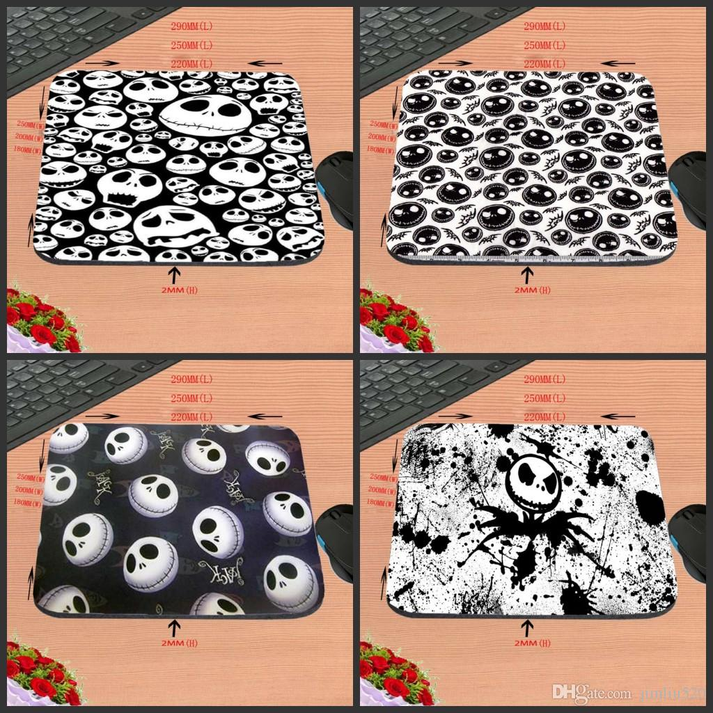 Diy Skulls Custom Hand Painted Design High Definition Personality Mouse Pad Non Slip Rubber Rectangle Decorate Your Desk As A Gift