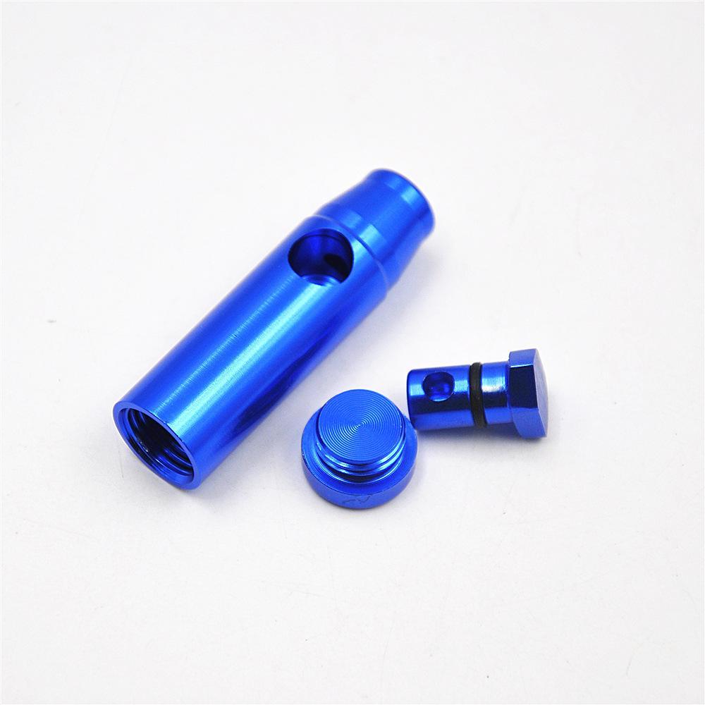 neue Art Kugel Aluminiummetall Schnupftabak snorter Pfeife Metallrohr Pfeife