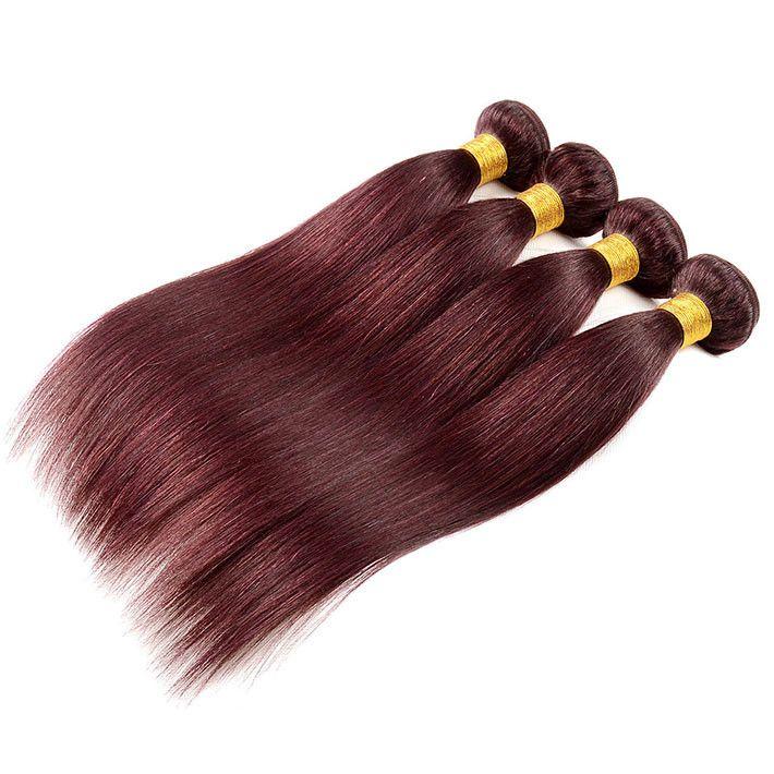 Vendita calda diritta onda dei capelli umani Weave 100g fascio opzione lotto estensioni dei capelli, il trasporto gratuito