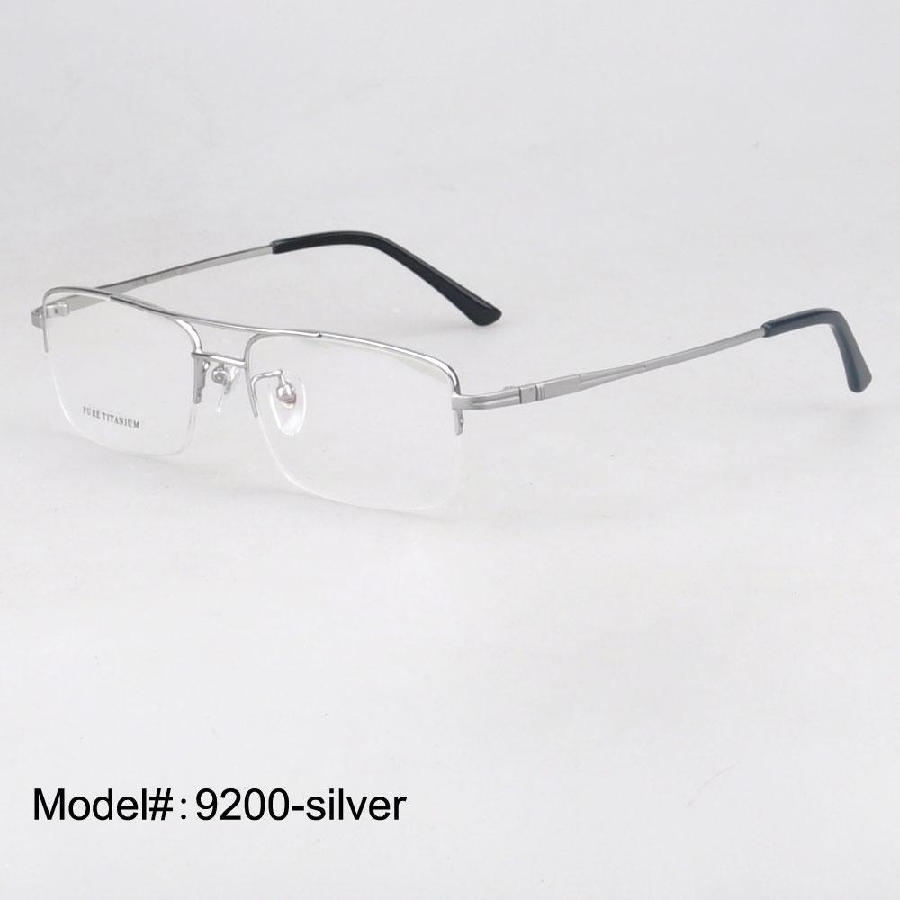 1833b6f6cf Compre Al Por Mayor 9200 Del Medio Borde De Titanio Puro Marcos Ópticos  Gafas De Prescripción Miopía Gafas Adecuadas Para Lentes Progresivas A  $28.35 Del ...
